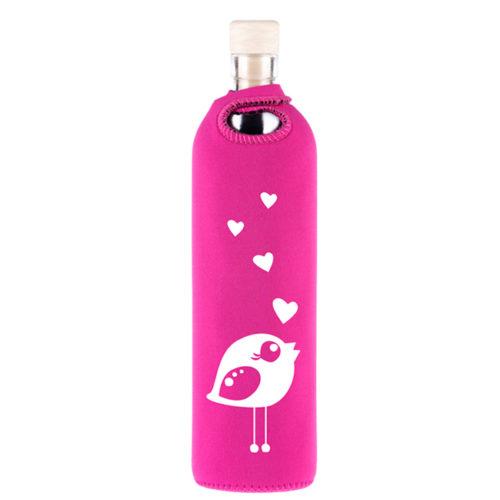 Flaska Roosa linnuga